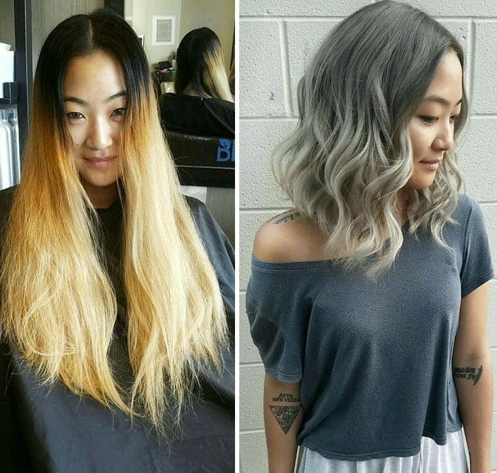 до и после: стрижка волос