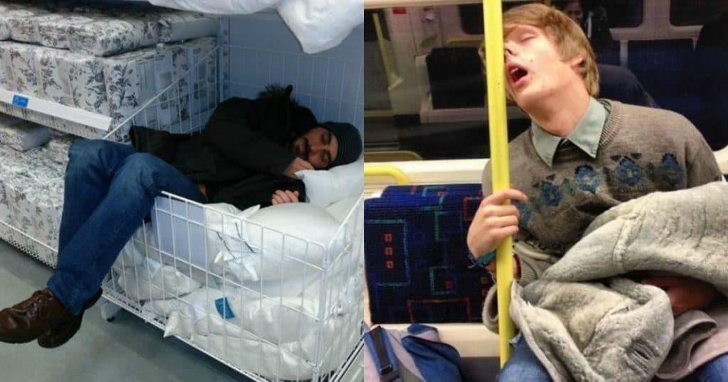 вашему вниманию веселые картинки спящих людей год