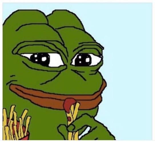 нарисованная лягушка