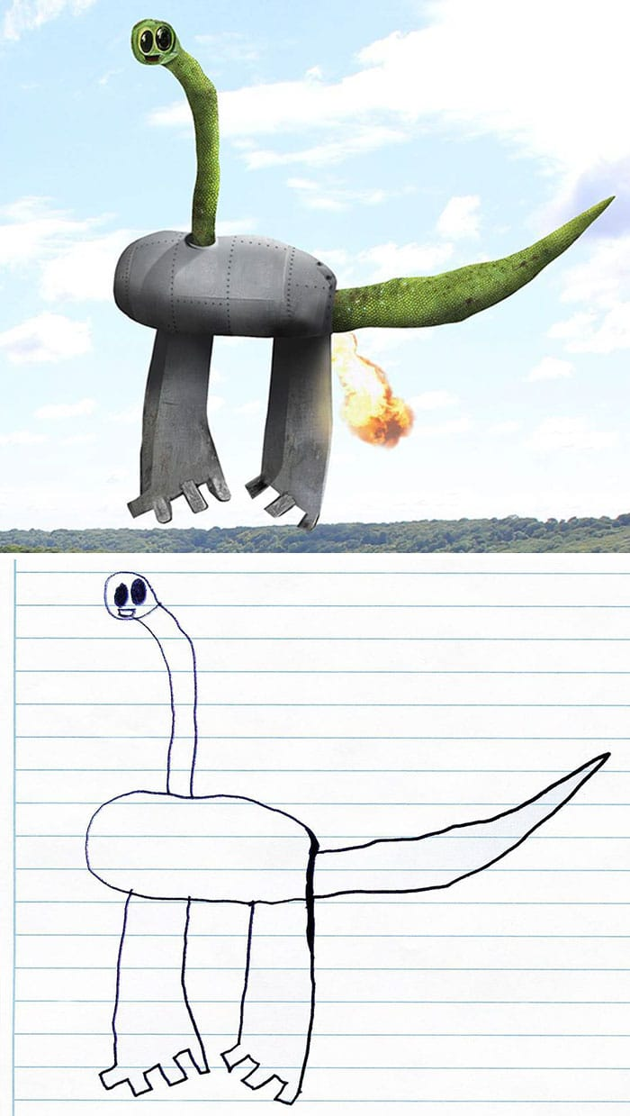 рисунок динозавра