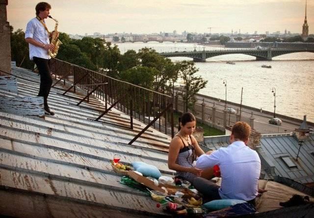 свидание на крыше
