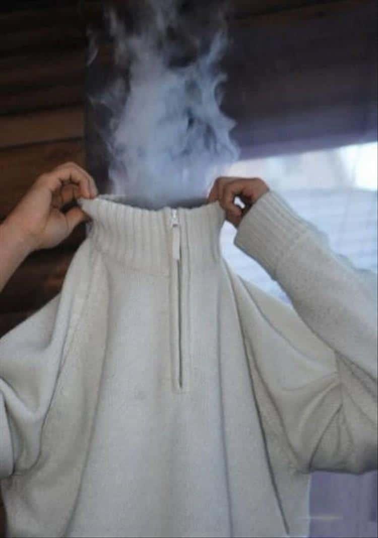 дым из кофты