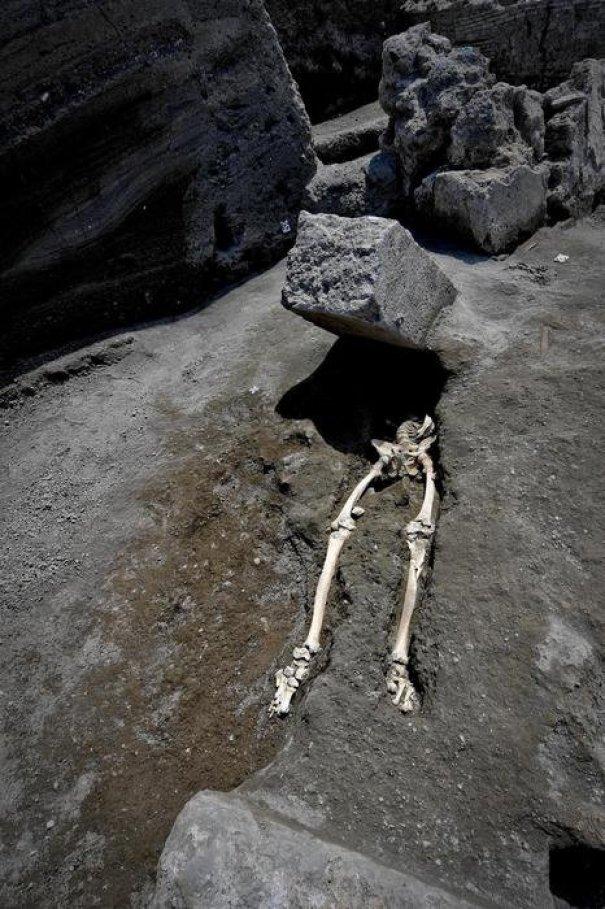 скелет под камнем