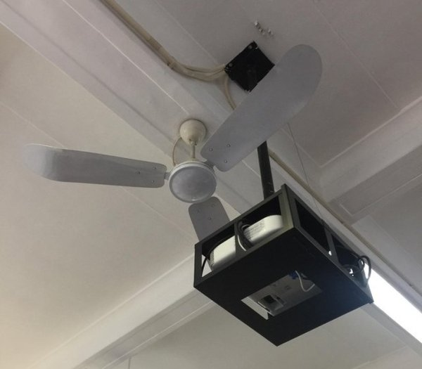 проектор на потолке