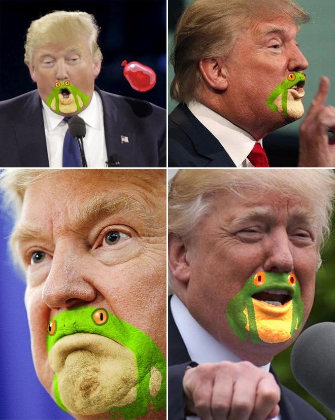 дональд трамп мимика