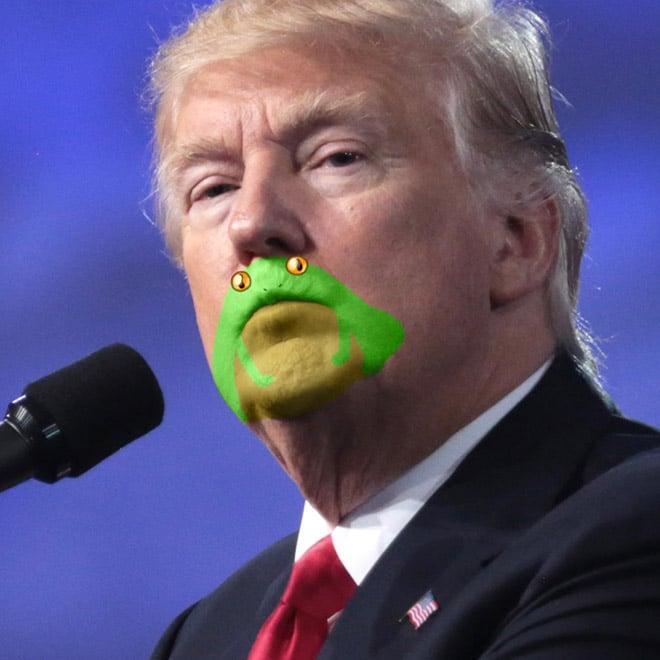 дональд трамп у микрофона