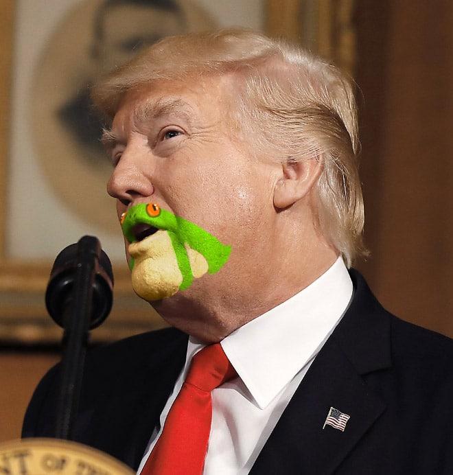 дональд трамп в красном галстуке