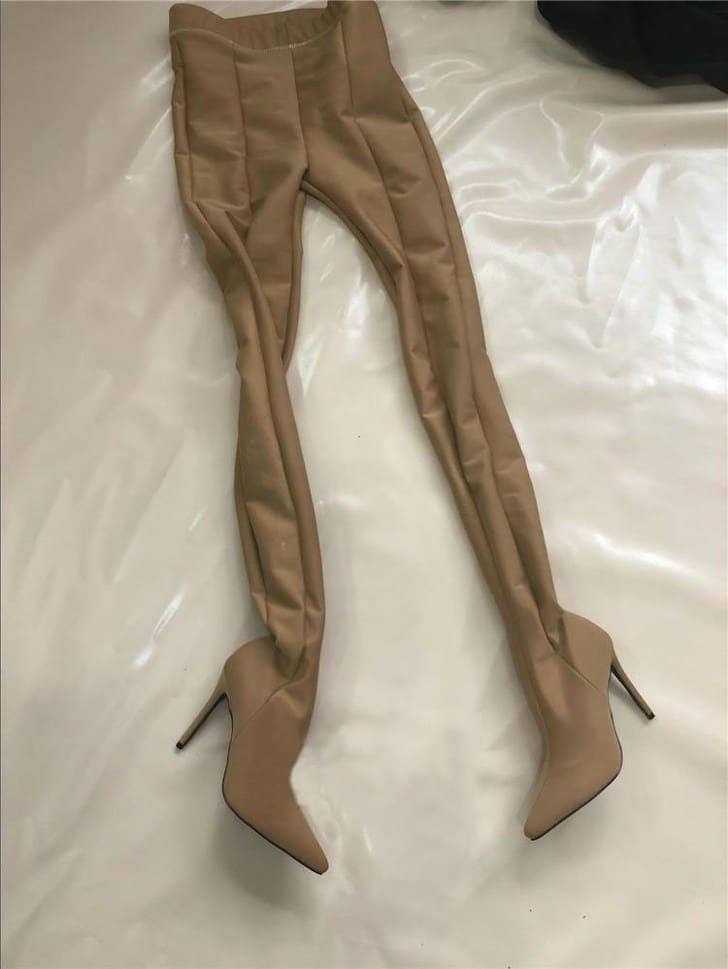брюки с каблуками