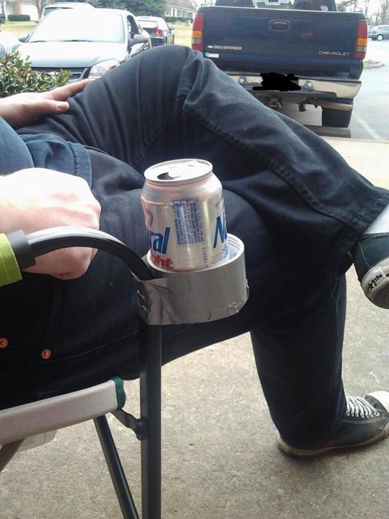 банка пива в скотче