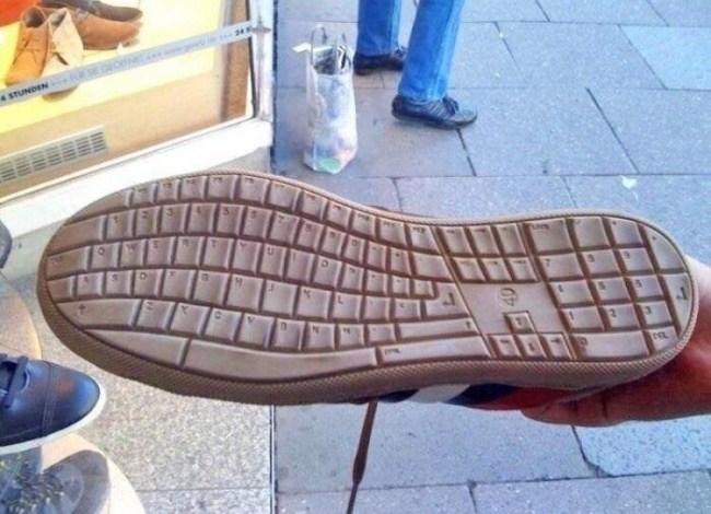 подошва в форме клавиатуры