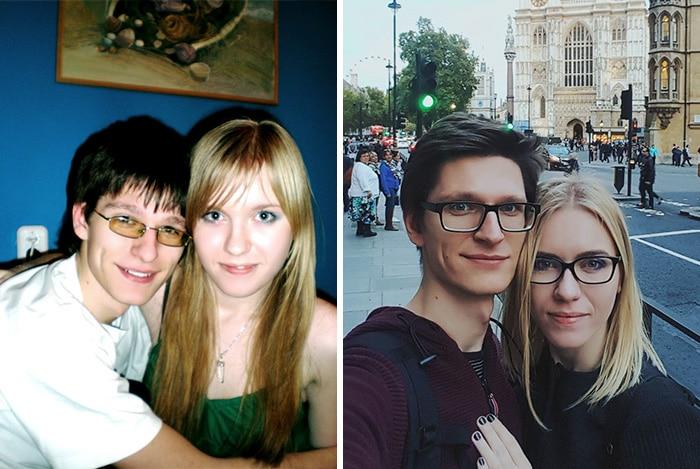 фото парня и девушки тогда и сейчас спустя 10 лет