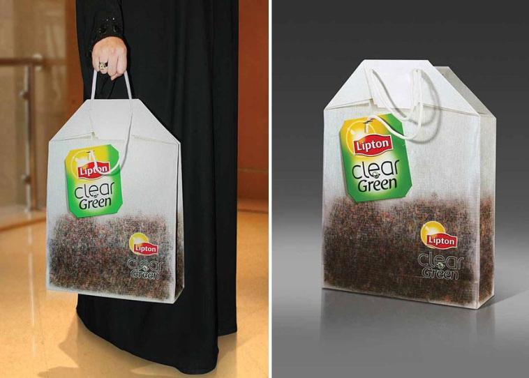 пакет в форме чайного пакетика