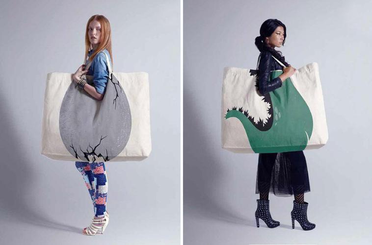 девушки с объемной сумкой на плече