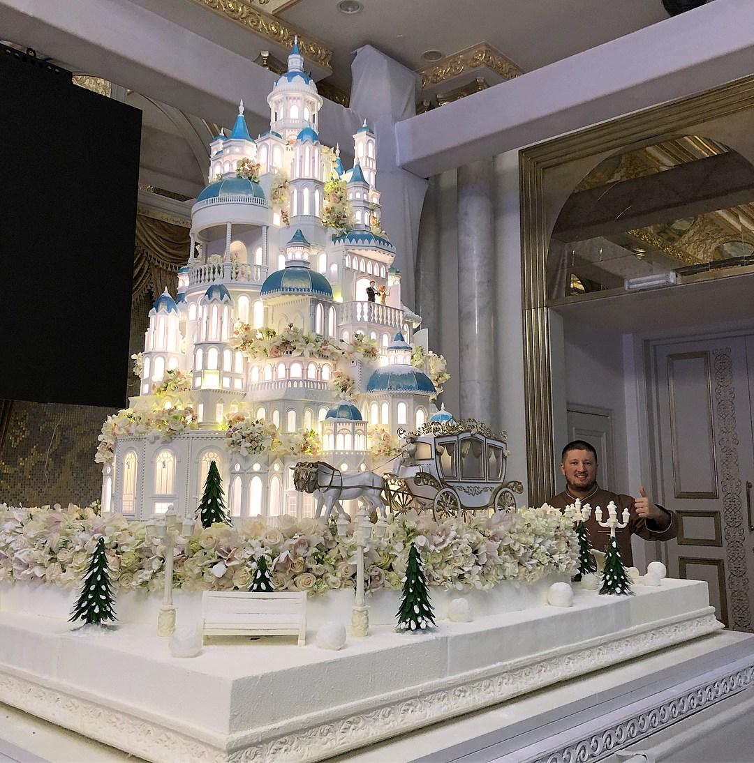 торт в форме сказочного замка