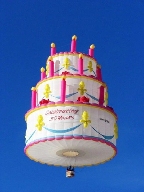 воздушный шар в виде торта