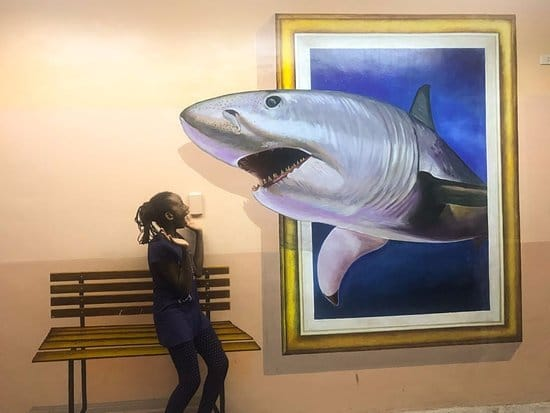 3D-рисунок акулы
