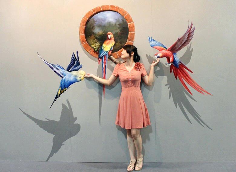 3D-рисунок птиц