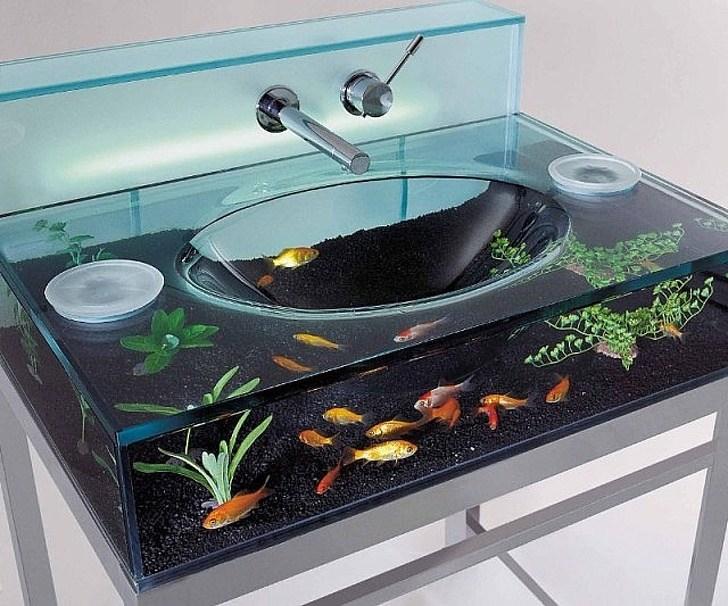 аквариум рукомойник