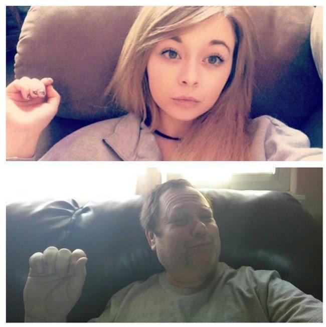 девушка и её отец