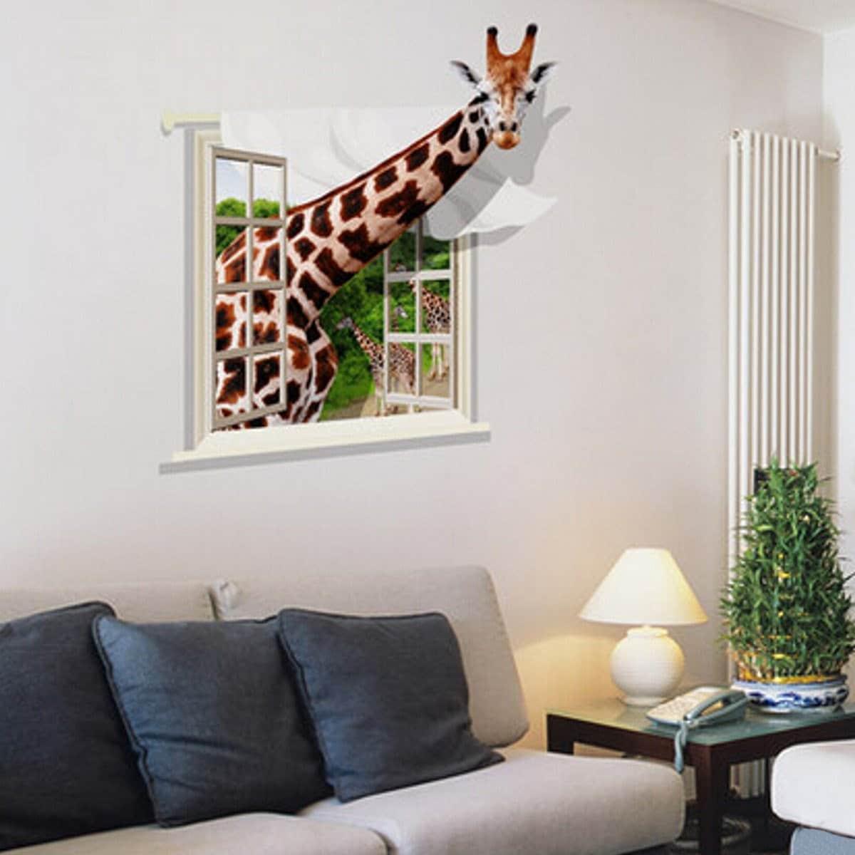 3D-рисунок жирафа