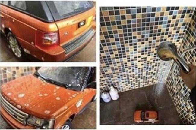 рыжая машина в душе