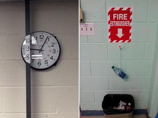 часы и мусорка