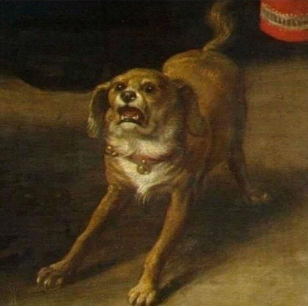 собака на картине