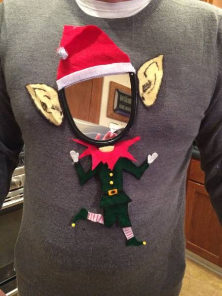 свитер с эльфом