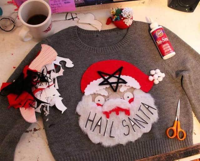 самодельный рождественский свитер