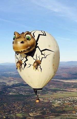 воздушный шар в виде яйца