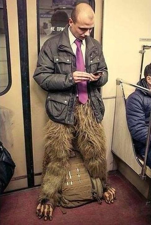 парень в метро