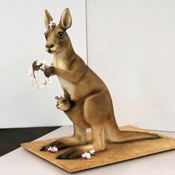 торт в виде кенгуру