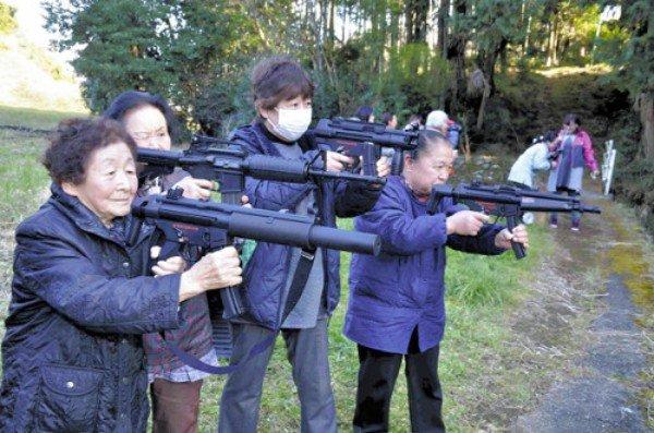 японки с оружием