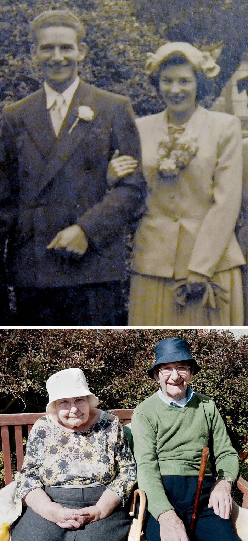 муж и жена молодые и в старости