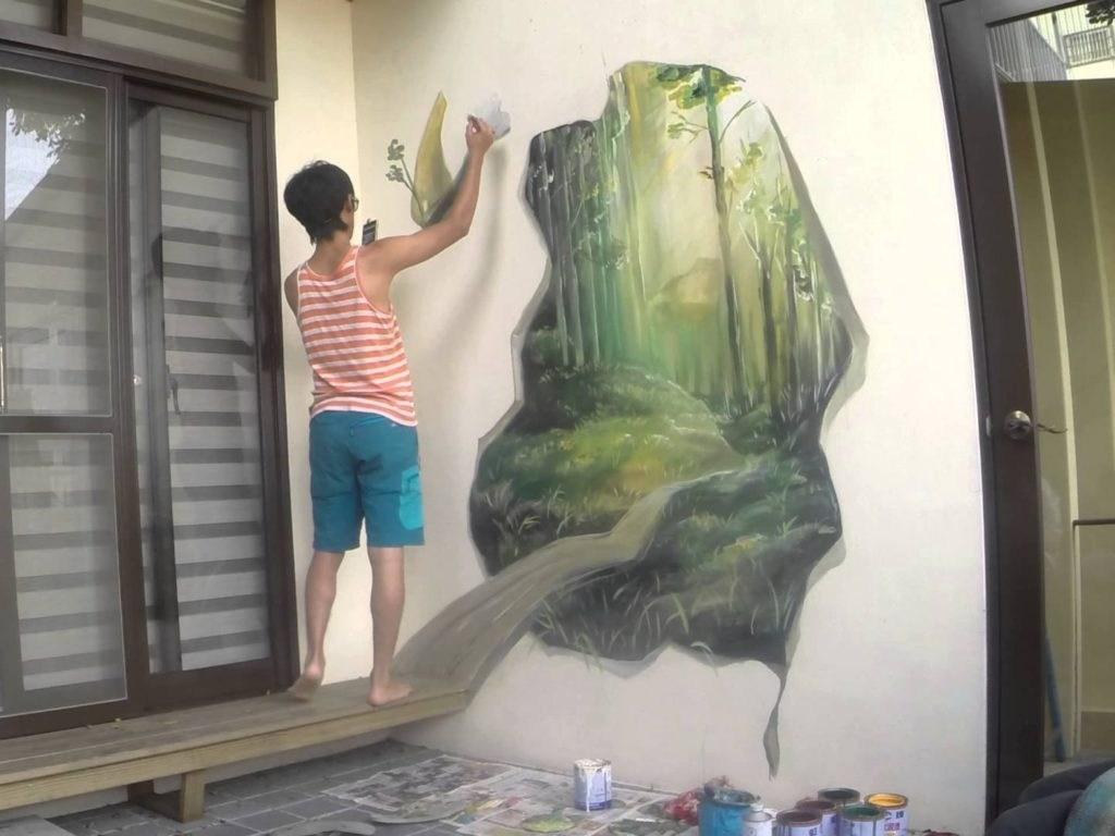 3D-рисунок леса