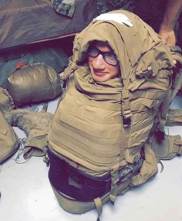 человек в рюкзаке