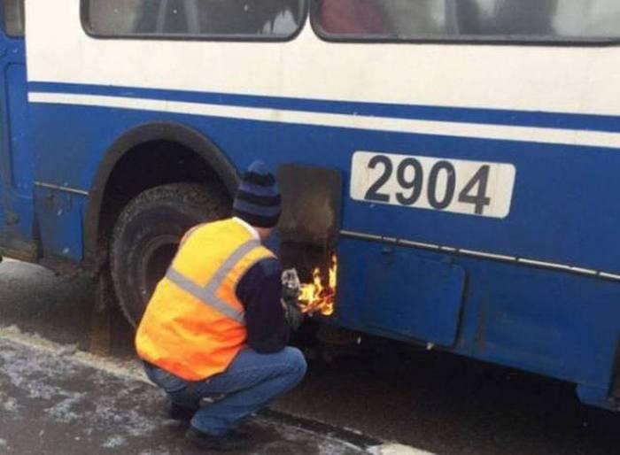 огонь в автобусе
