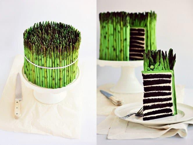 торт в виде растения