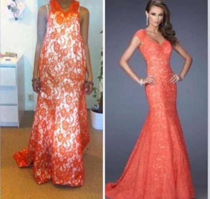девушка в коралловом платье