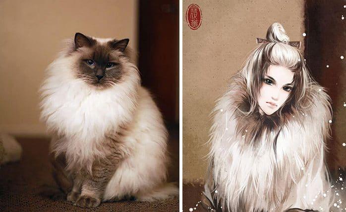 Кошка в человеческом обличье