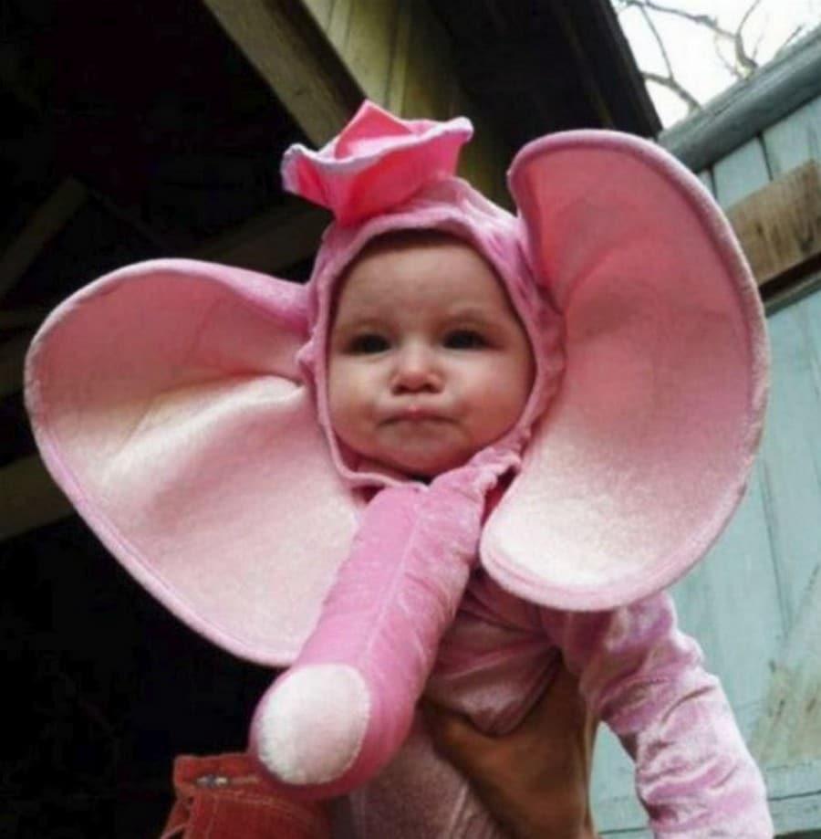 костюм розового слона