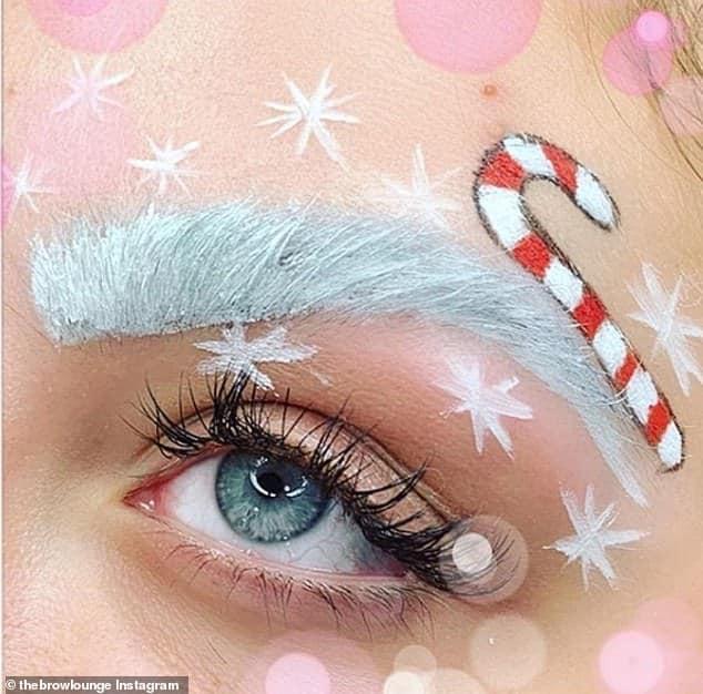 белая бровь и снежинки