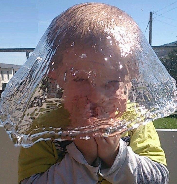 вода на голове