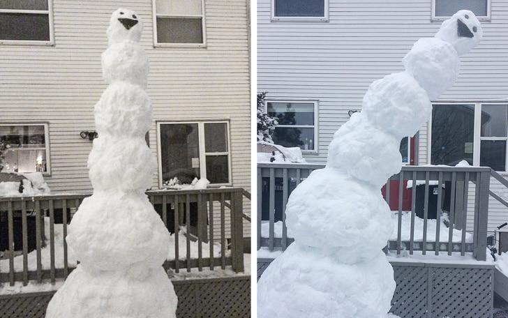 высокий снеговик