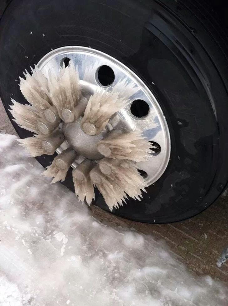 обледенение колес