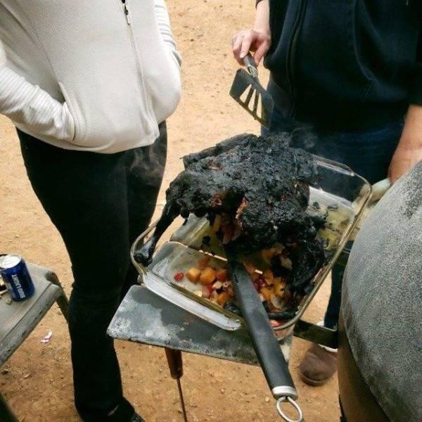 сгоревшая индейка