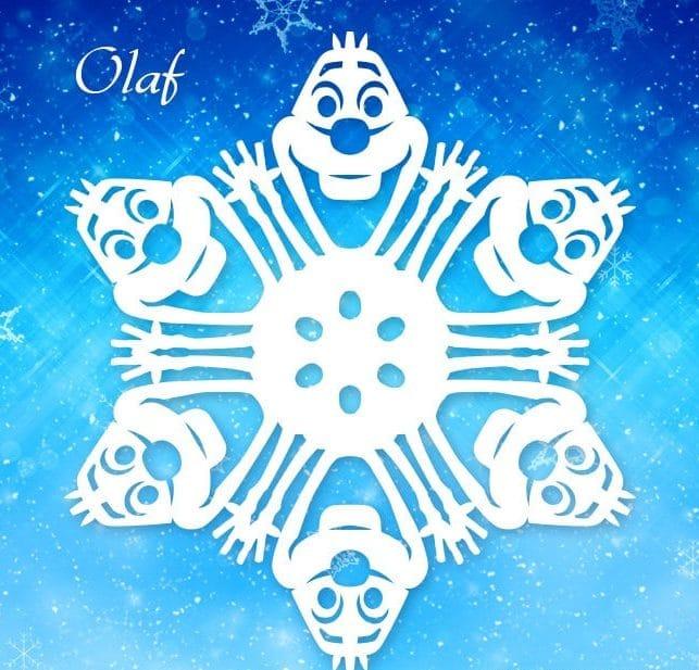 снежинка олаф