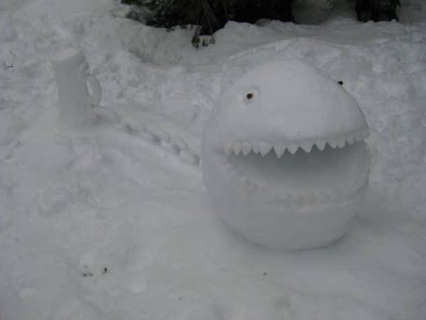 Снежок с зубами
