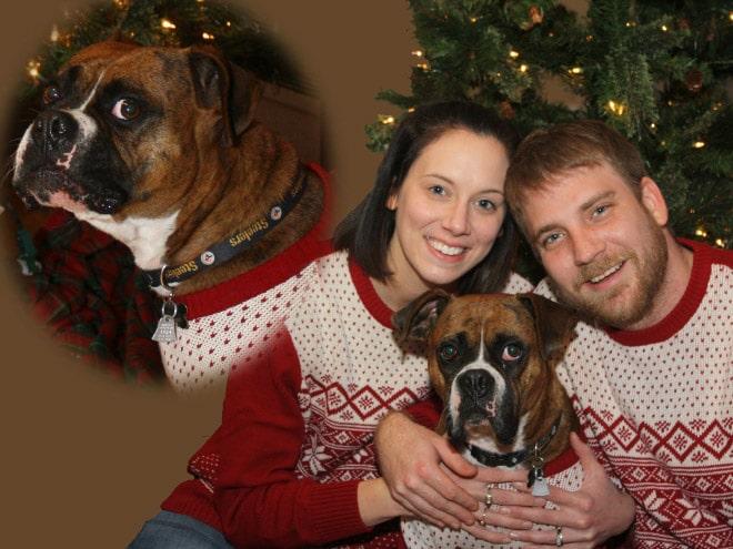 семейная пара с собакой