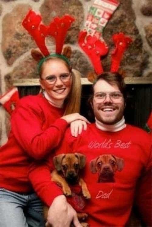 10 весёлых семейств, которые решили провести новогоднюю фотосессию... рис 5
